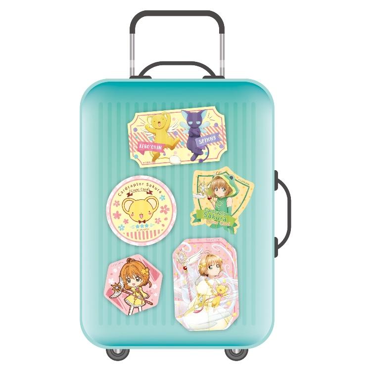 庫洛魔法使透明牌篇-行李箱貼紙-嚶嚶嚶
