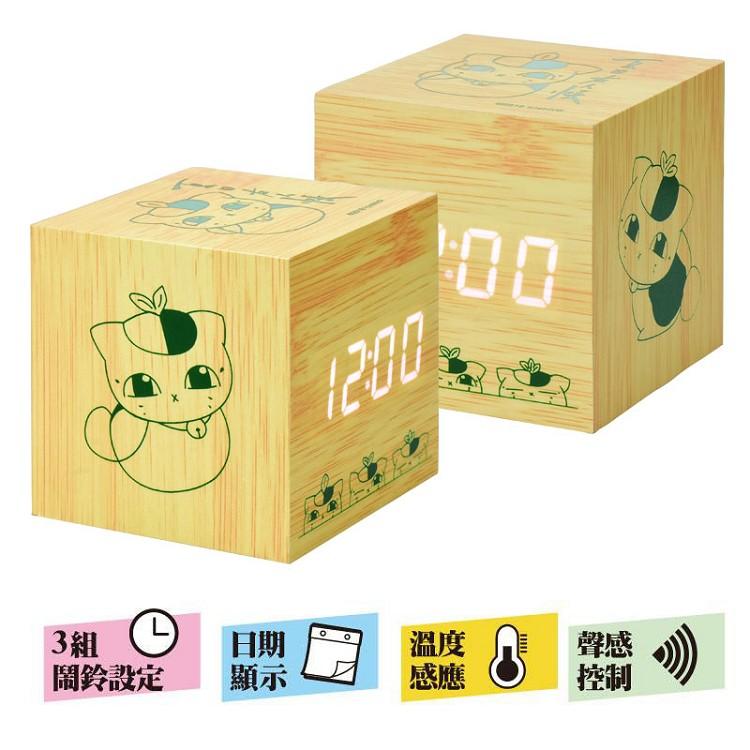 夏目友人帳-LED木紋鐘劇場版A款(貓)