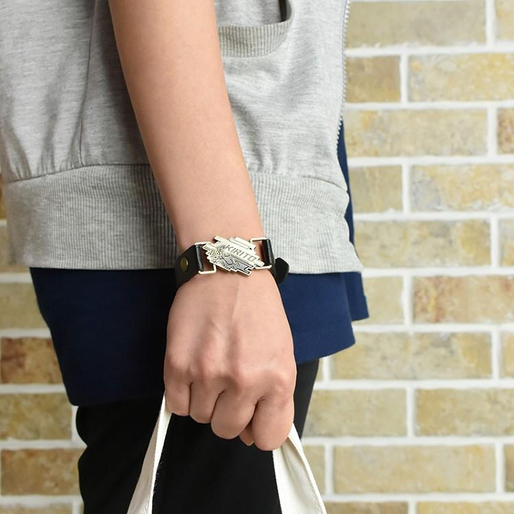刀劍神域Ⅲ-皮革手環(個性金屬)A款(桐)