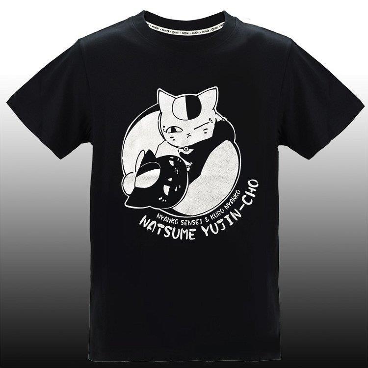 夏目友人帳-潮流炫光T-shirt(雙貓)L