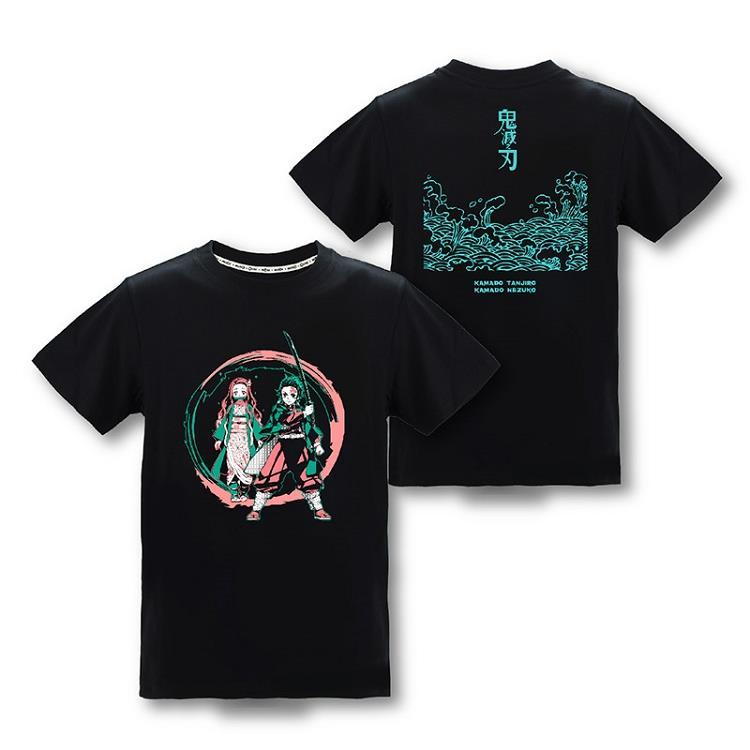 鬼滅之刃-潮流T-shirt(兄妹)XL