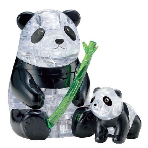 3D水晶拼圖-快樂貓熊