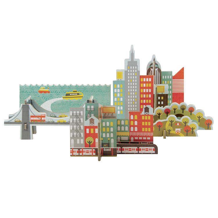 美國Petit Collage-立體組裝拼圖-城市之旅-紐約