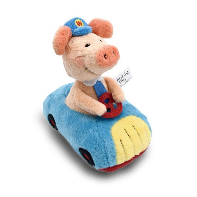 NICI 12cm汽車小豬威比造型迴力車