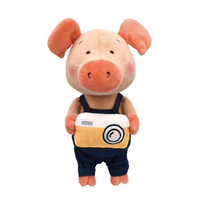 NICI 35cm相機小豬威比坐姿玩偶