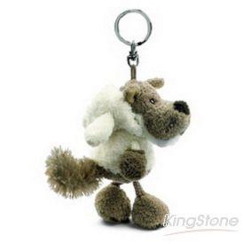 【NICI】披羊皮的狼鑰匙圈-白