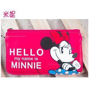 迪士尼橫式手機袋HELLO系列-米妮