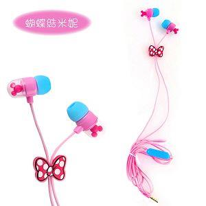 迪士尼米奇頭造型耳機-米妮蝴蝶結