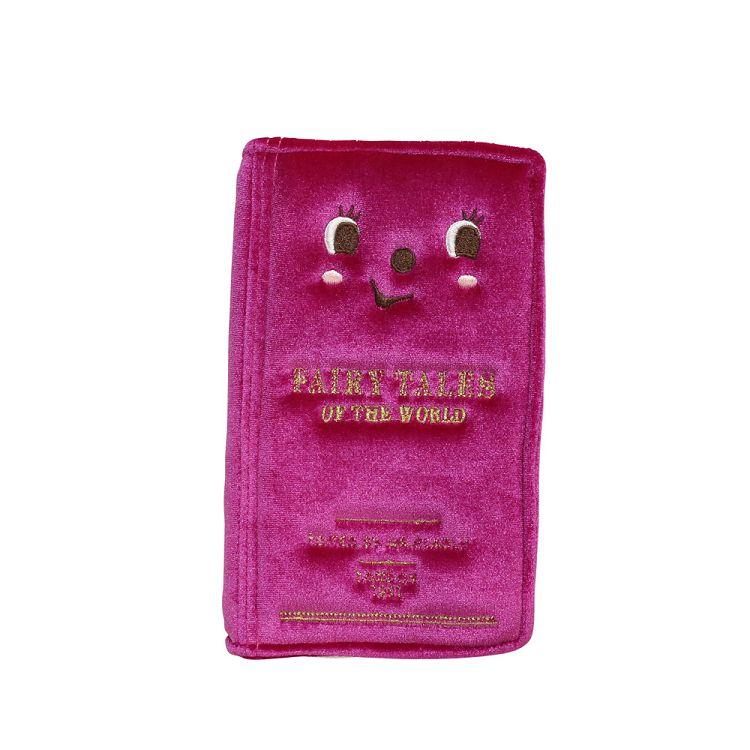 精裝書本造型手機包桃紅色