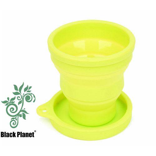 黑星球密蓋旅行折疊杯(綠芽)