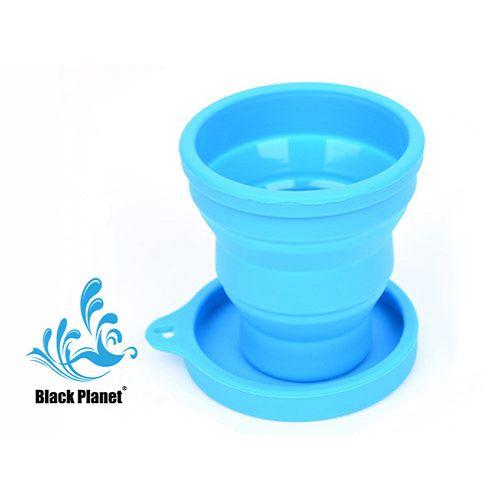 黑星球密蓋旅行折疊杯(藍霧)