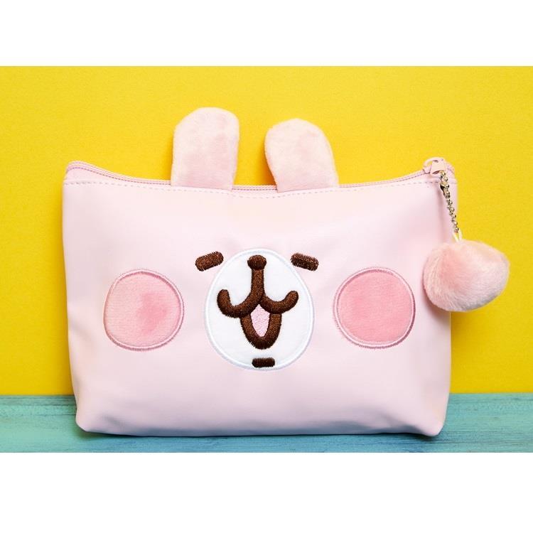 卡娜赫拉-PU化妝包-笑臉粉紅兔兔