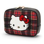 Kitty化妝包-格紋