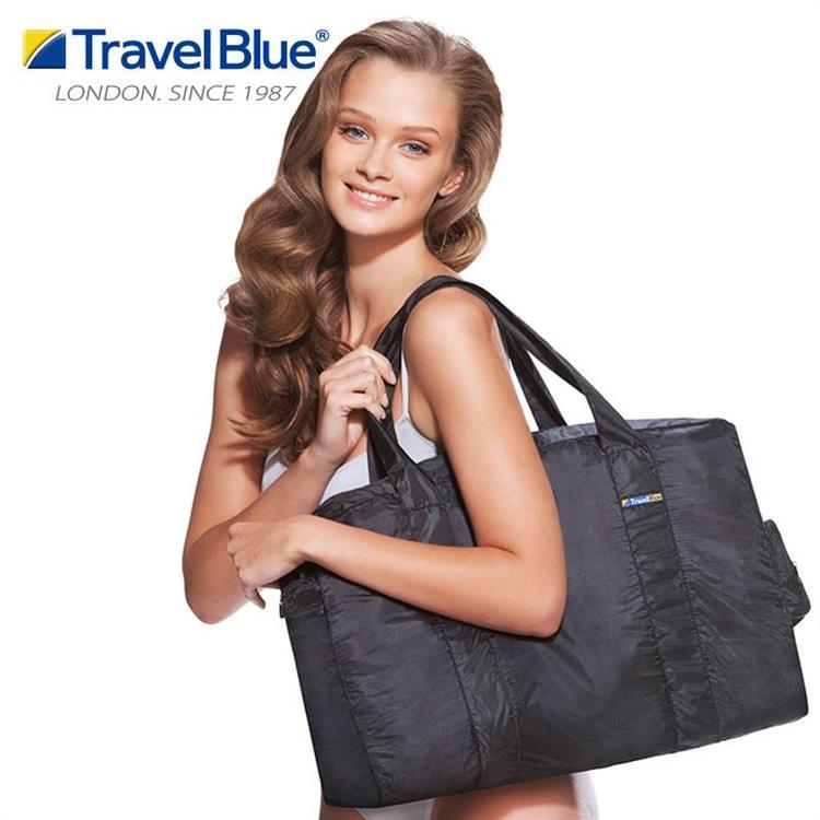【Travel blue 英國藍旅】折疊式手提袋 TB051