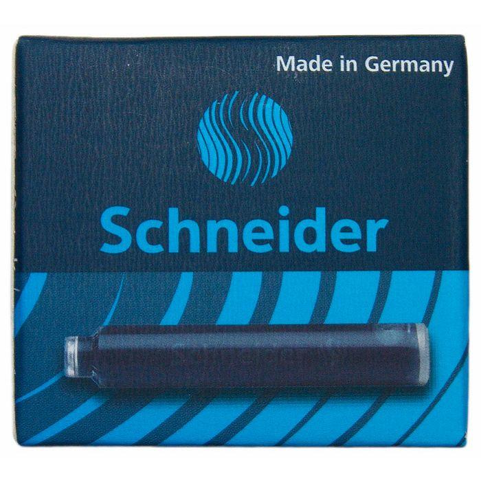 Schneider施奈德鋼筆卡式墨水管6入(歐規)-黑藍