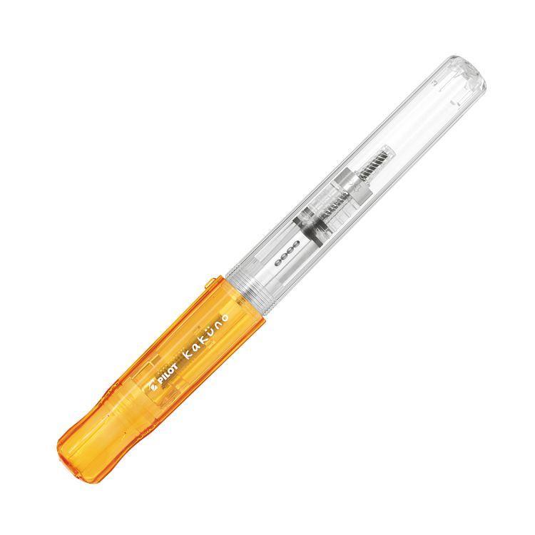 百樂微笑鋼筆透明桿M-透明橘(限量版)