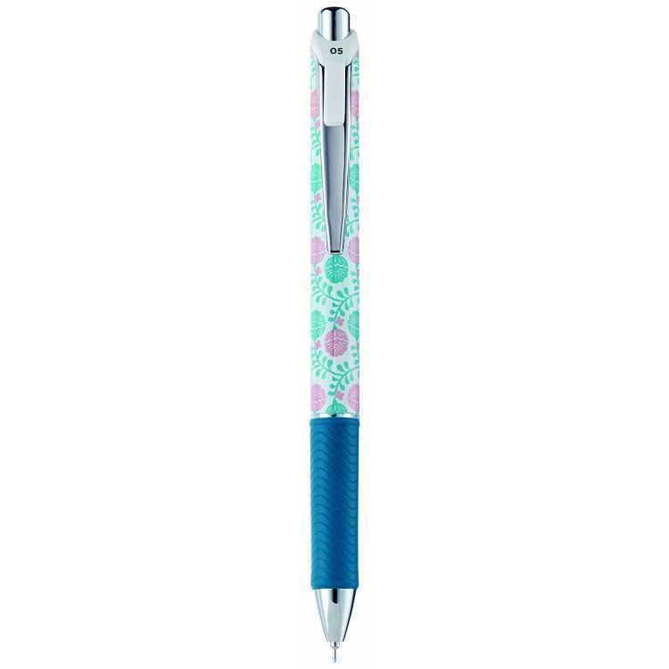 PENTEL 印花樂極速自動鋼珠筆0.5-圓滿花朵桿 (限量版)