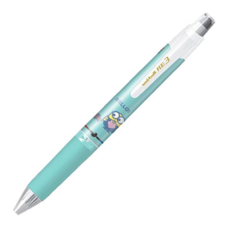 UNI URE3600小小兵三色摩樂鋼珠筆0.5-綠(限量版)
