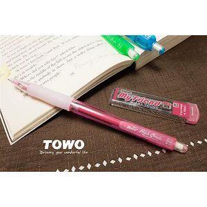 TOWO搖擺自動鉛筆0.5+2B芯-粉紅