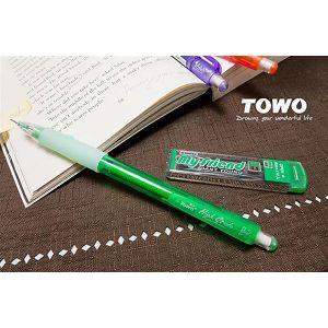 TOWO搖擺自動鉛筆0.5+2B芯-綠