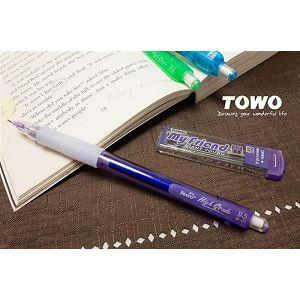 TOWO搖擺自動鉛筆0.5+2B芯-紫