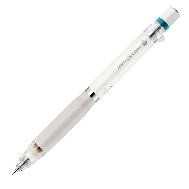 【ZEBRA 斑馬】DelGuard Type-Er不易斷芯自動鉛筆0.5-白桿