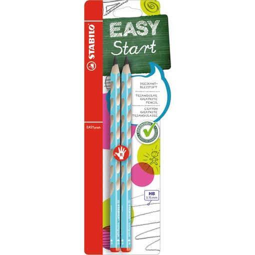 【STABILO】德國天鵝牌EASYgraph右手人體工學HB鉛筆2入-淺藍