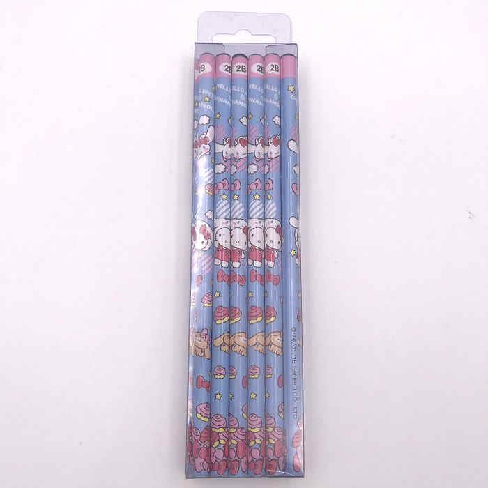 三麗鷗_12入木頭鉛筆(2B)