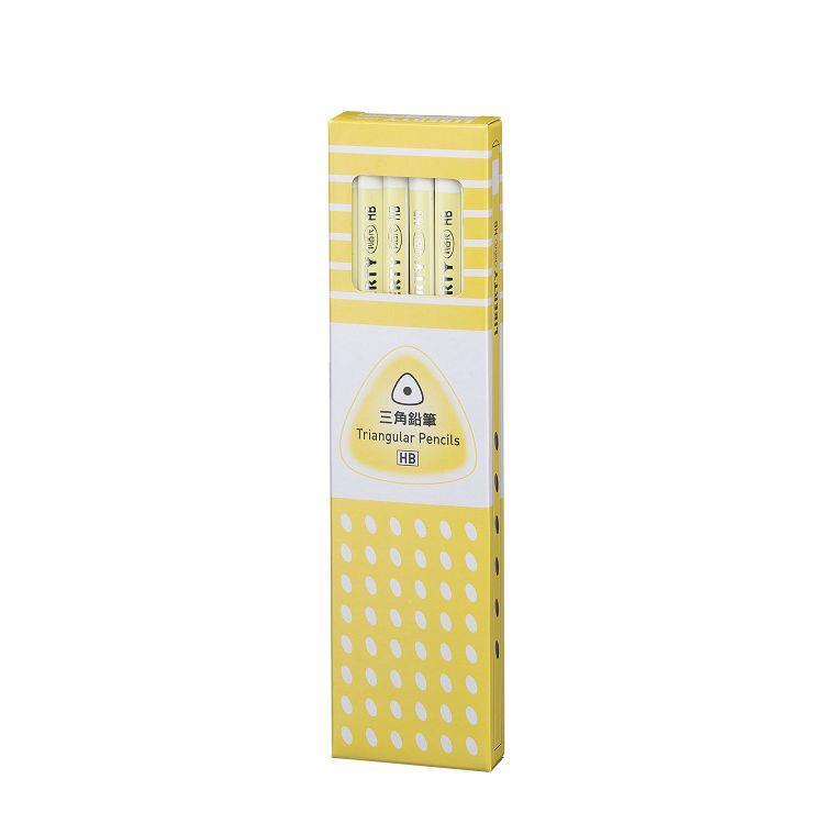 利百代三角拉線塗頭打裝鉛筆(HB)-粉黃桿