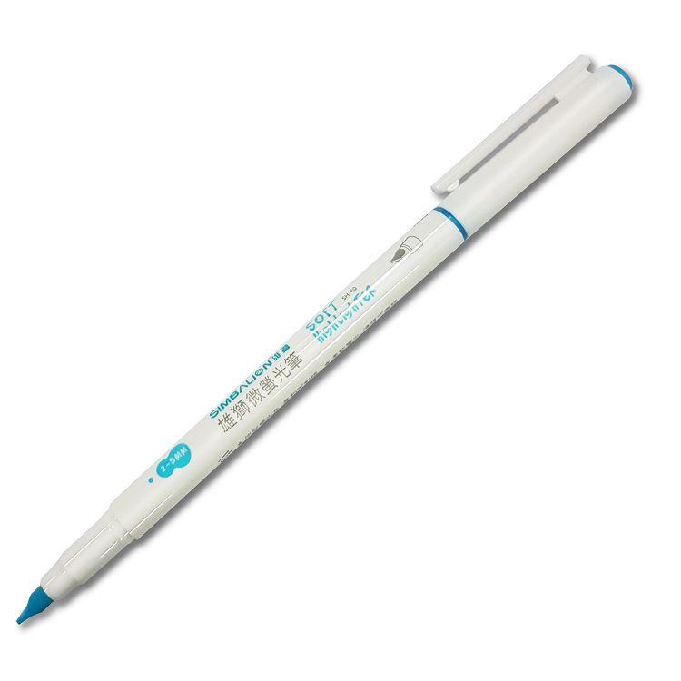 雄獅微螢光筆-藍 (SH-40)