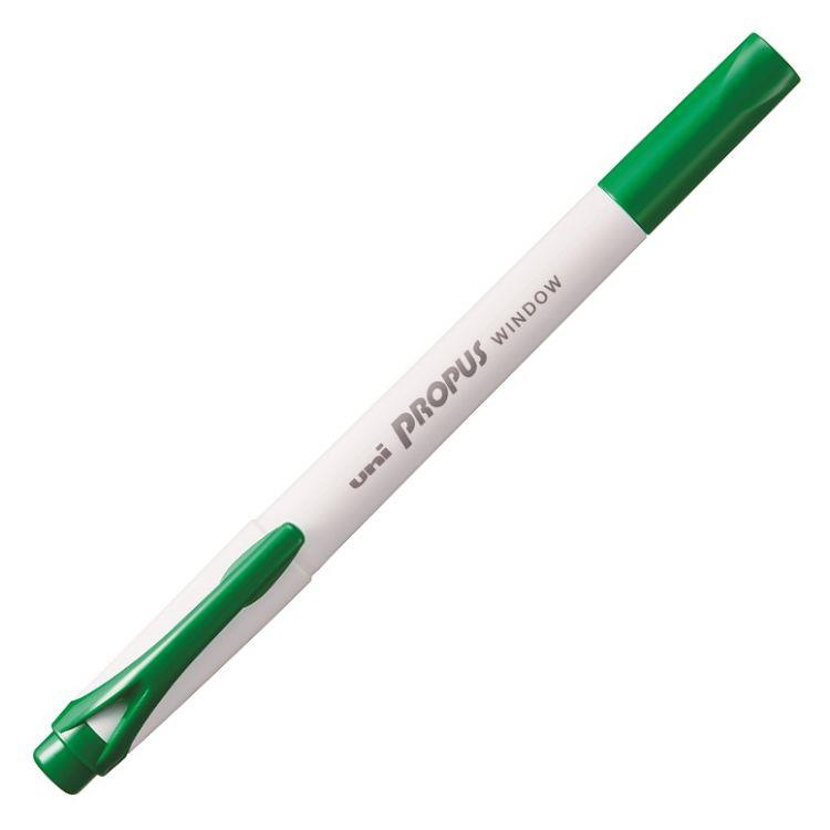 UNI PUS103T暖色視窗雙頭螢光筆-綠