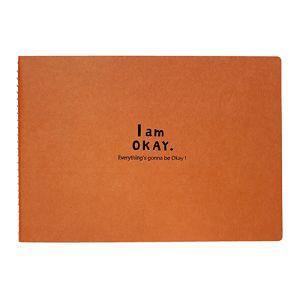 【柏格文具】I Am Okay-25K特級繪圖本 橘