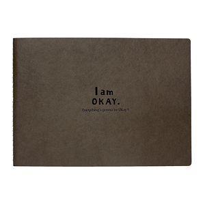 【柏格文具】I Am Okay-25K特級繪圖本 黑