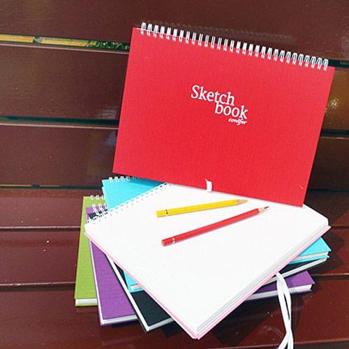【Conifer綠的事務】16K布面繪圖本。紅