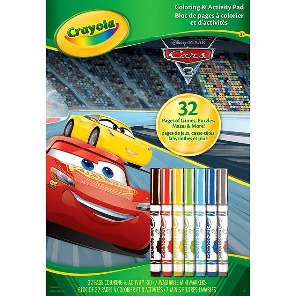 【Crayola繪兒樂】 汽車總動員著色套裝