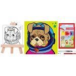 【登新】兒童禮包-上色高手(布畫+畫架+專用水筆+36色鉛筆)