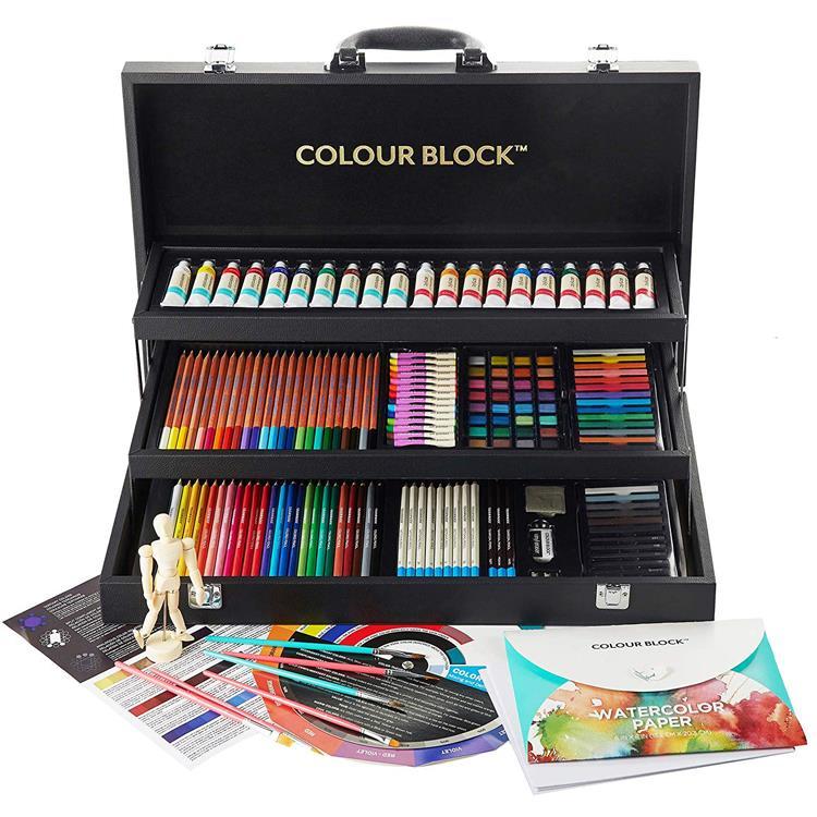 【COLOUR BLOCK】三層皮革美術繪圖套組181PCS