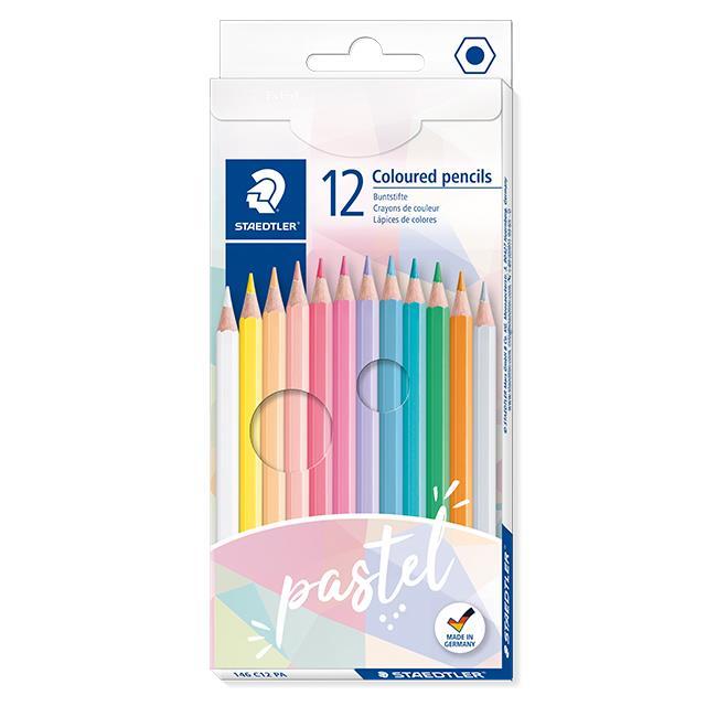 施德樓MS146C油性色鉛筆12色(粉彩色系)