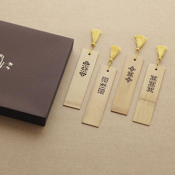 中華筆莊 竹片書籤-福氣吉祥