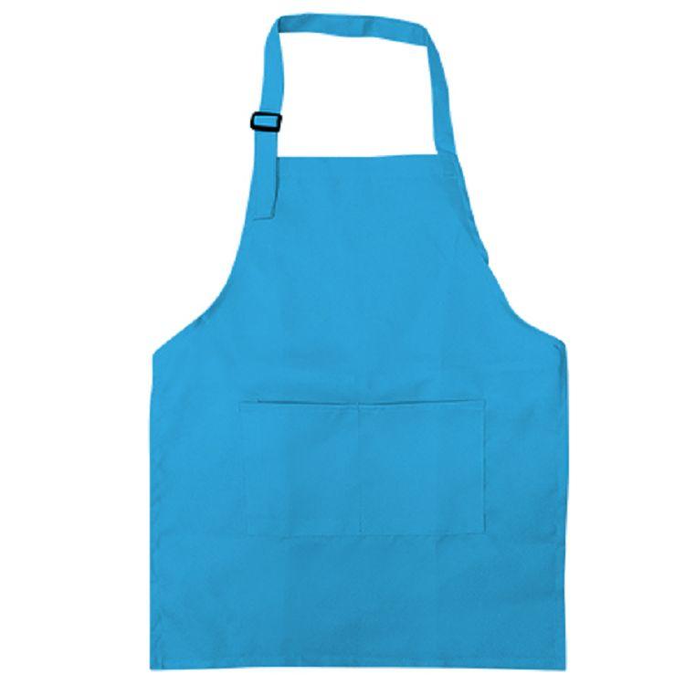 中華筆莊 小兒童圍裙-素面水藍
