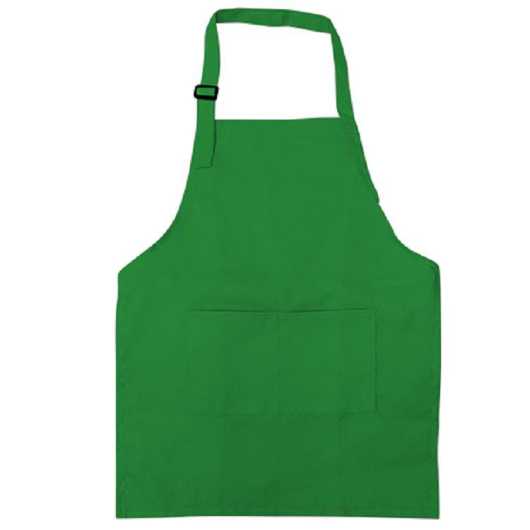 中華筆莊 小兒童圍裙-素面翠綠