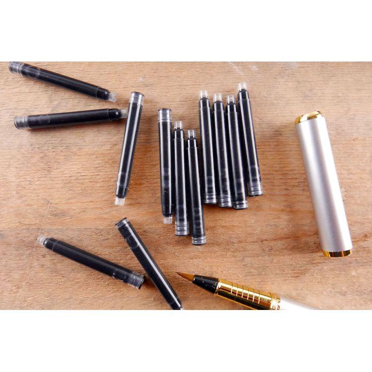中華筆莊 鋼筆型卡式墨水管12入-黑