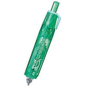 OVAL圓型筆式按鍵修正帶+內帶(1+1)5mm*6M-綠