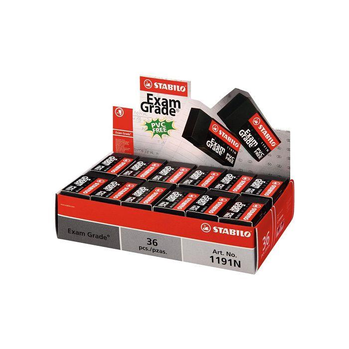 【STABILO】德國天鵝牌Exam Grade環保橡皮擦(小)盒裝組36入
