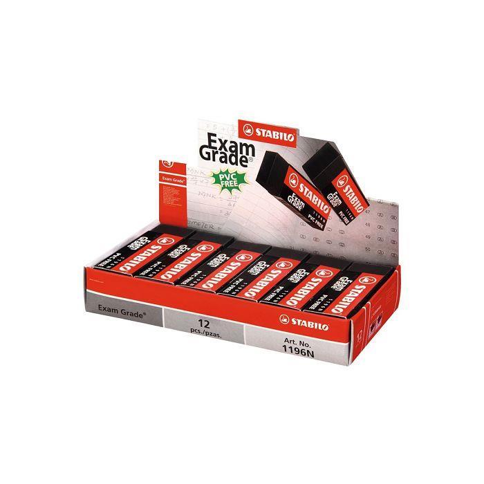 【STABILO】德國天鵝牌Exam Grade環保橡皮擦(大)盒裝組12入