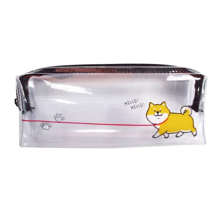 卡哇伊透明長型筆袋A-狗