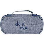 【珠友】雙層上翻筆袋 do it now-D藍
