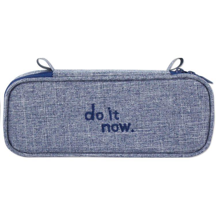 【珠友】單層上翻筆袋 do it now-D藍