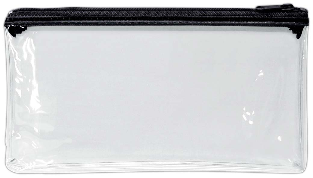 【四季紙品禮品】PVC透明大筆袋-黑