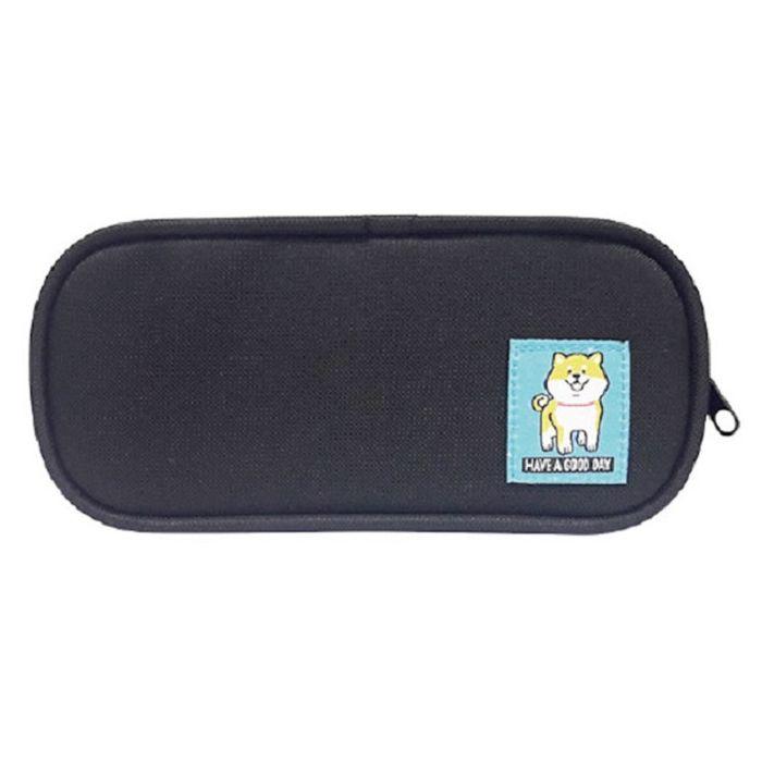 柴犬長型布筆盒A-黑